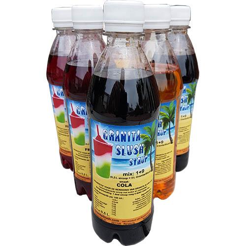 0,5 Liter GranitaSlushsiroop flesjes 6x