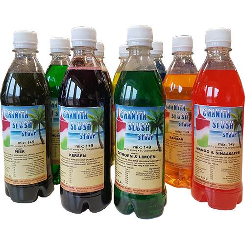0,5L Granita Slushsiroop flesjes div smaken