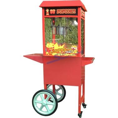 Popcornmachine met onderwagen Popcornmachinekar