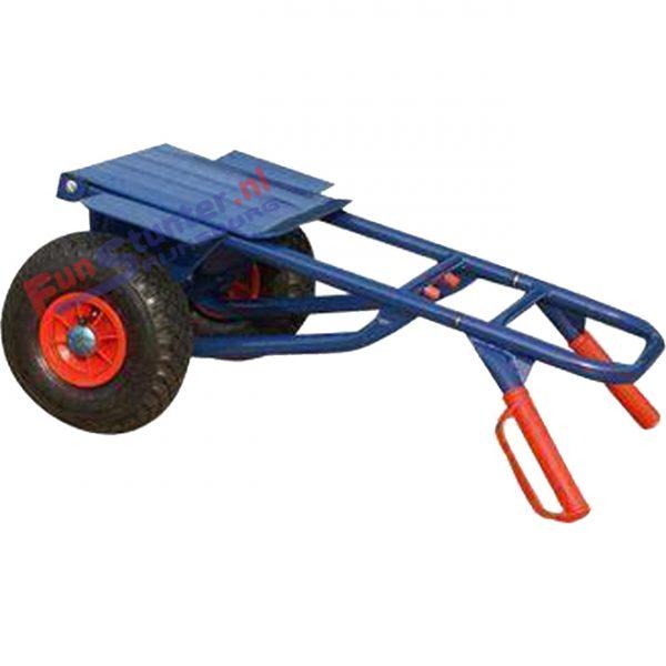 Steekwagen Opklapbaar en inschuifbaar Brede massieve anti lek banden