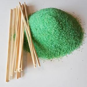 Suikerspinsuiker Suikerspin Appel groen met stokjes FunStunter