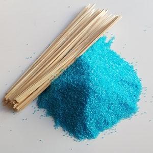 Suikerspinsuiker Bosbessen Suikerspin Bosbes Blauwe Bes Blauw met stokjes FunStunter