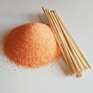 Suikerspinsuiker Suikerspin Sinaasappel Oranje met stokjes FunStunter