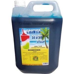 Slushsiroop Granitasyrup Bosbessen Blauw 5 liter