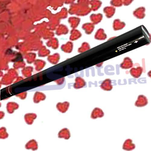 Confetti Handshooter Hartjes Rood Confetti schietpijp CO2