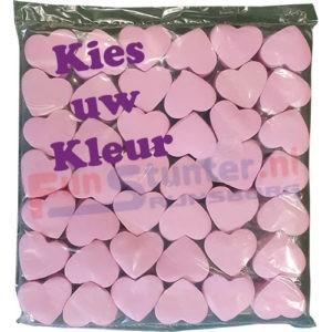 Confetti Hartjes Hartvormige confetti Bruidsconfetti Wit Roze Rood