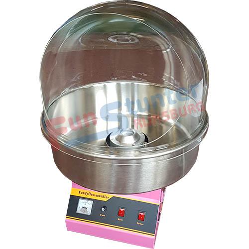 Suikerspinmachine FS-C50, plexiglaskap FS-WK50 met net