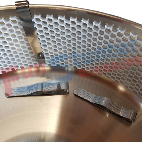 Suikerspin machine net FunStunter FS-C50 met gaasnet klem detail